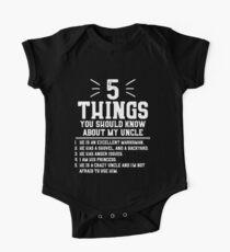 5 Dinge, die du über meinen Onkel wissen solltest Baby Body Kurzarm