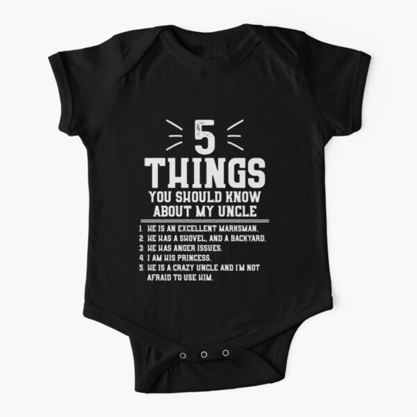 5 Things You Should Know About My Uncle Short Sleeve Baby One-Piece