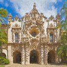 Stylized photo of Spanish architecture:  Casa del Prado in Balboa Park, San Diego CA. by NaturaLight