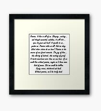Joss Whedon Passion Quote Framed Print