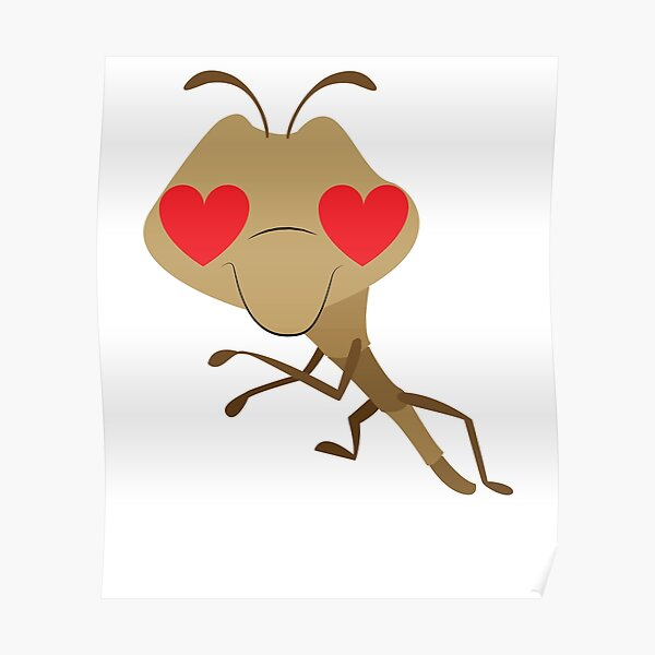 Praying Mantis Emoji   Poster
