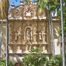 Stylized photo of Spanish architecture: Casa del Prado Theatre in Balboa Park, San Diego CA. by NaturaLight