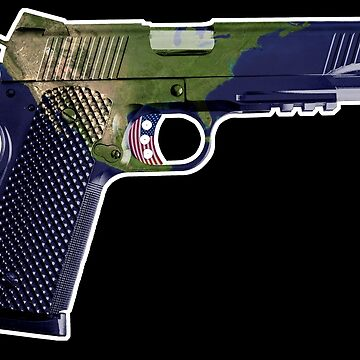 DoubleStar M1911, Earth Gun, Pistol, 2nd Amendment, USA by worn
