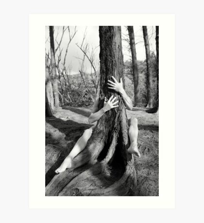 Hands and tree Art Print
