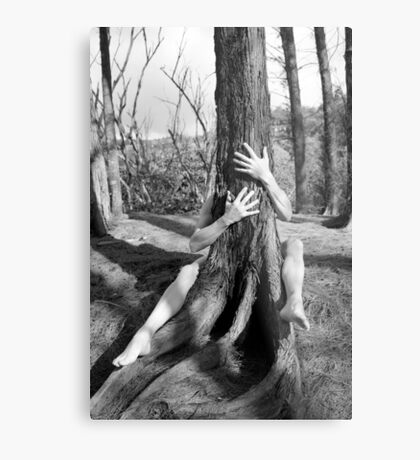 Hands and tree Metal Print