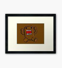 Little Brown Monster Framed Print