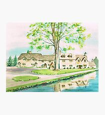 Countryside Cottages Photographic Print