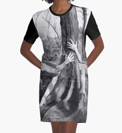 Hands and tree Graphic T-Shirt Dress