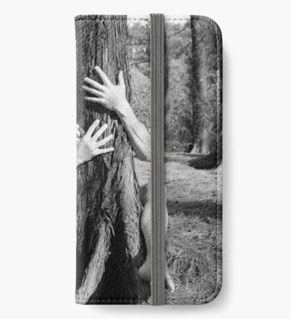 Hands and tree iPhone Wallet