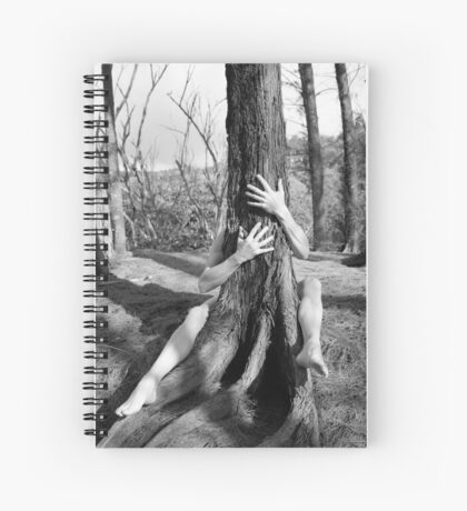 Hands and tree Spiral Notebook