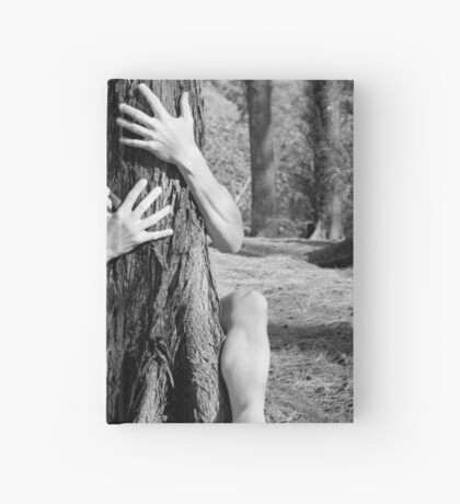 Hands and tree Hardcover Journal