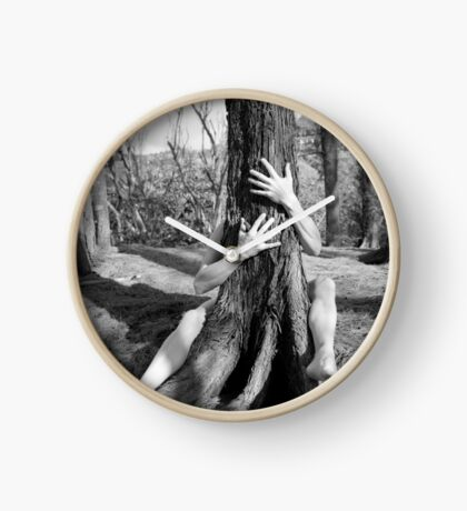 Hands and tree Clock