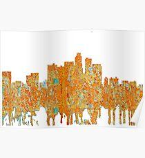 Los Angeles, California Skyline - Rust Poster