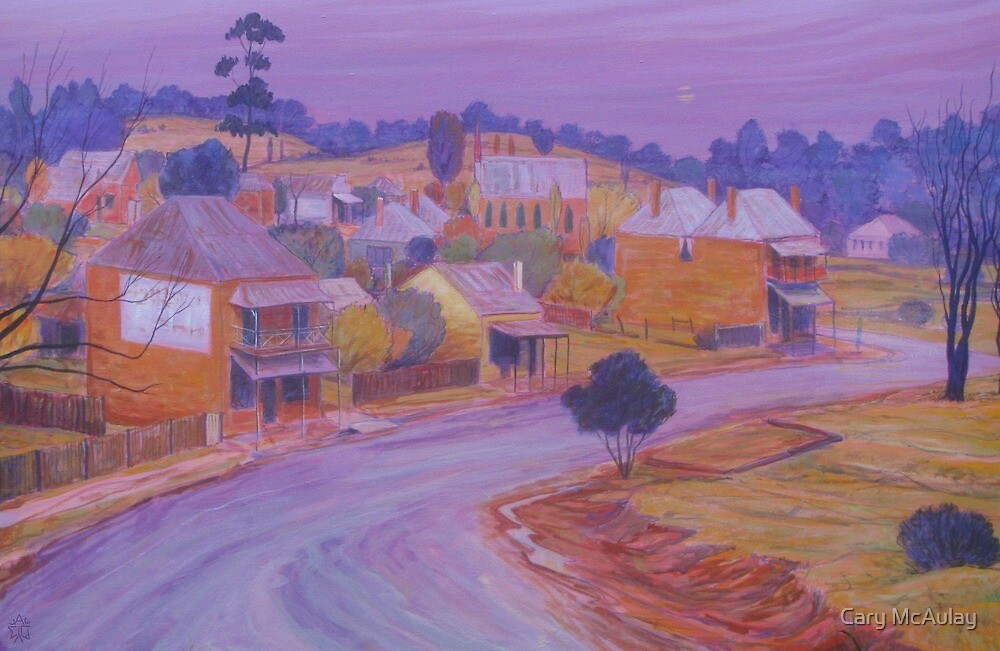 Misty Twilight - Hill End NSW by Cary McAulay