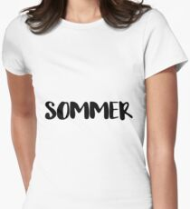 SOMMER Women's Fitted T-Shirt