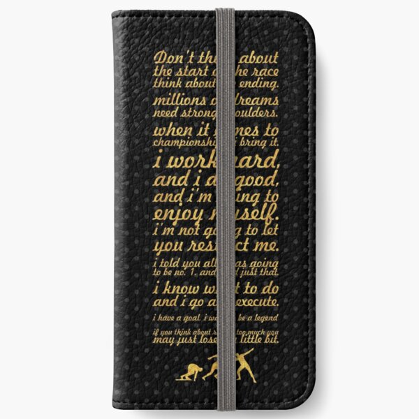 """Don't think about... """"Usain Bolt"""" Life Inspirational Quote iPhone Wallet"""