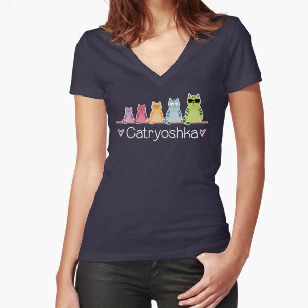 Catryoshka Fitted V-Neck T-Shirt