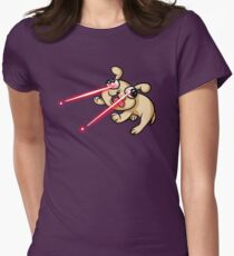 Laser Puppy Women's Fitted T-Shirt