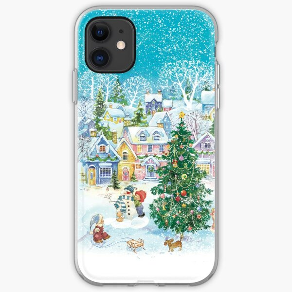 A cozy town in  the winter iPhone Soft Case