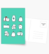 Fat Christmas cats Postcards