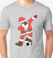 Funny Santa Dabbing Soccer Christmas (Football) Unisex T-Shirt