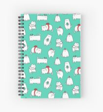 Fat Christmas cats Spiral Notebook