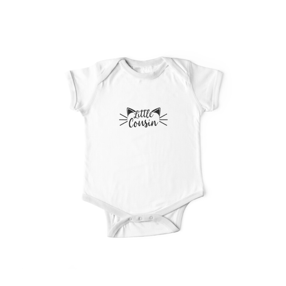 26040562 Little Cousin Shirt Big Cat Matching Crew Family Graphic Tee
