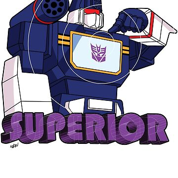 Soundwave: Superior (bust) - for dark shirts by NDVs