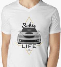 Subie life white Men's V-Neck T-Shirt