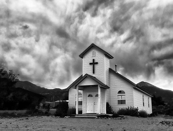 Church In the Desert - Baker, Nevada by Kathy Weaver