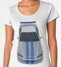 The Gray and Blue Women's Premium T-Shirt