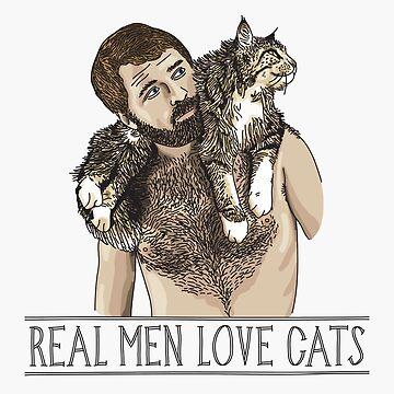 Real Men Love Cats by beardsandcats