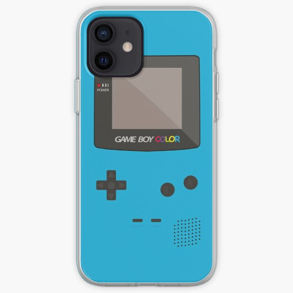 Nintendo Gameboy Color Pocket Classic iPhone Case Cyan iPhone Soft Case
