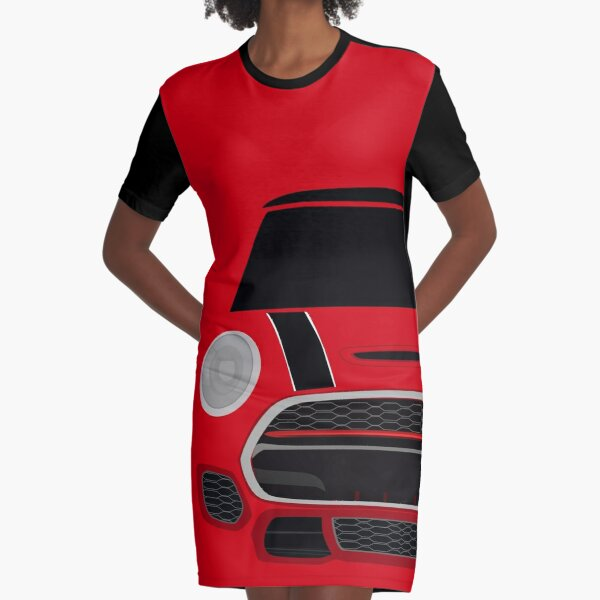 Red italian Job Graphic T-Shirt Dress