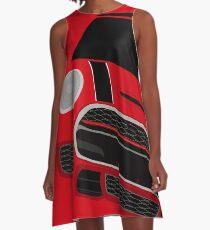 Red italian Job A-Line Dress