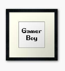 Gamer Boy Framed Print