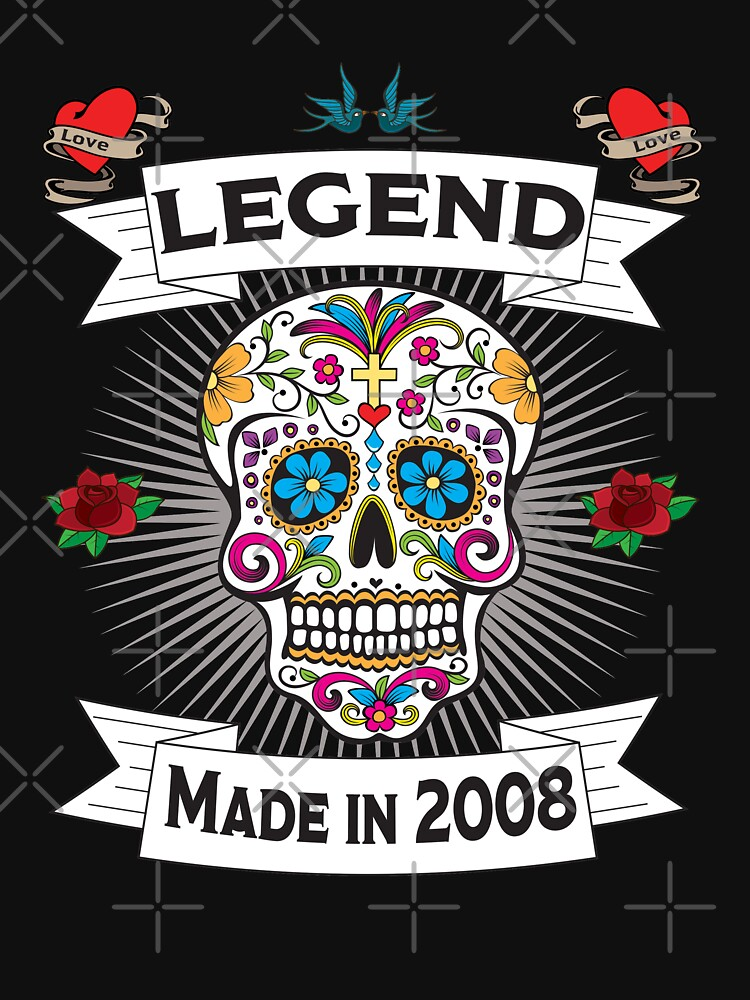 10th Birthday Design - Sugar Skull Legend Made In 2008  by kudostees