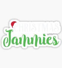 Christmas Jammies Pajamas PJ  Sticker