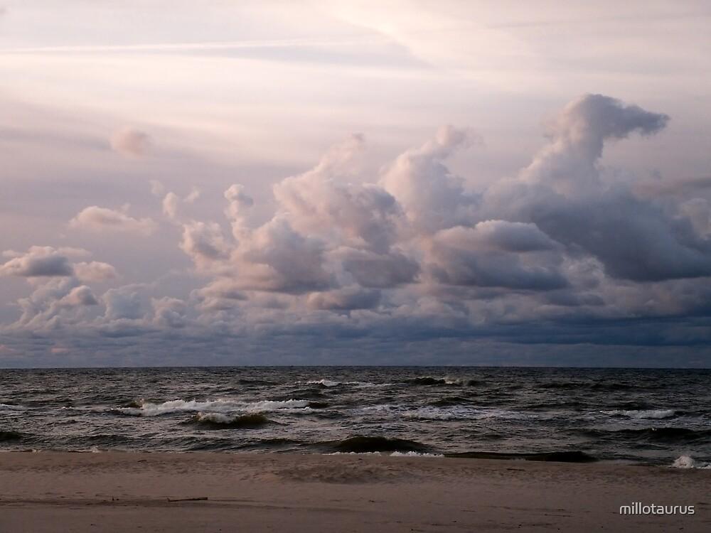 Baltic Sea beach-sunset 2 by millotaurus