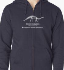 "Stranger Things Dustin's brontosaurus dinosaur ""thunder lizard"" hoodie Minnesota museum  Zipped Hoodie"