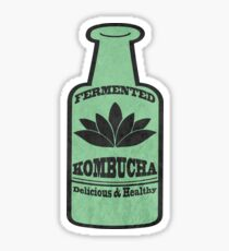 Kombucha Green Bottle Sticker Sticker
