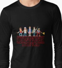 Stranger Things Cartoon Graphic Long Sleeve T-Shirt