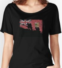 Over The Top! Canada Red Ensign Women's Relaxed Fit T-Shirt