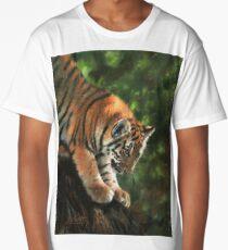 Tiger Cub in Tree Long T-Shirt