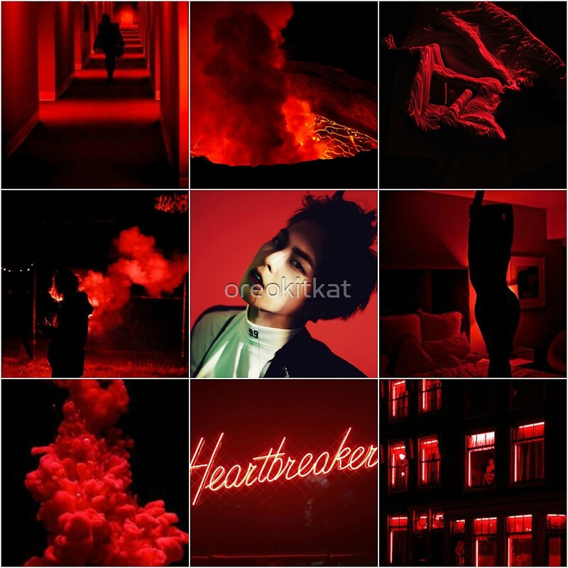 Quot Xiumin Red Aesthetic Quot By Oreokitkat Redbubble