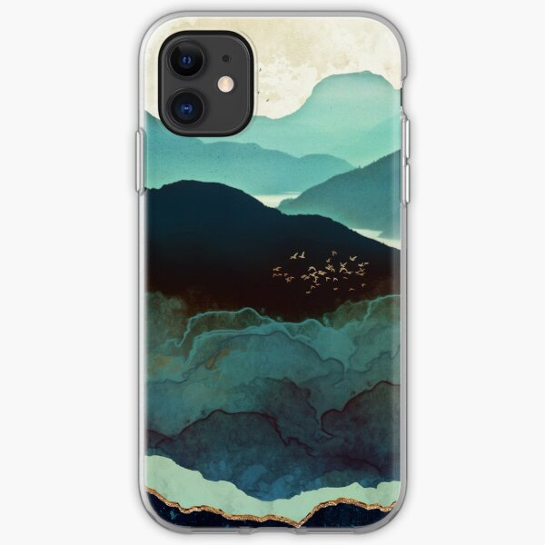 Indigo Mountains iPhone Soft Case