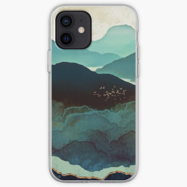 Montagnes indigo Coque souple iPhone