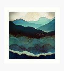 Indigo Mountains Art Print