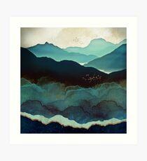 Lámina artística Montañas Índigo