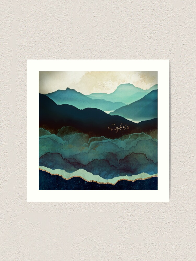 Alternate view of Indigo Mountains Art Print
